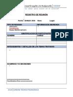ACTA DE REUNION COORDINACION formato