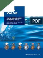 Sejin triple offset valves