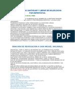 ORACIONES VARIAS PARA LA BOVEDA y PARA SANTIGUAR Y LIBRAR DE MALES