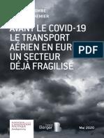 Avant le Covid-19, le transport aérien en Europe