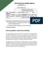 GUIA  N°  1  GRADO 9° C.S  PROTECCIONISMO Y APERTURA ECONÓMICA