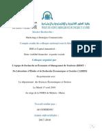 Compte Rendu Du Colloque RSE Et Capital Immatériel Ali OUHDIDOU FSJES-Meknès