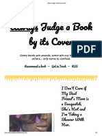 Always judge a book by its cover