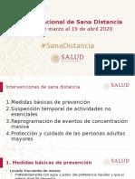 Jornada Nacional Sana Distancia 14 Marzo 2020