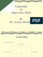 Leadership & Supervisory Skills