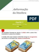 CienTic7- E1 Deformações da litosfera
