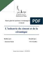l'Industrie Du Ciment Et de La Céramique
