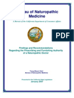 """BNM - """"Findings and Recommendations Regarding the Prescribing and Furnishing Authority of a Naturopathic Doctor"""""""