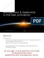 Management & Leadership in the new civilization