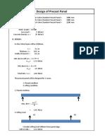 Design of Precast Panel
