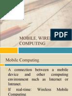 Mobile, Wireless Computing