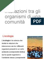 interazioni tra gli organismi di una comunità. ppt