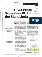 Design 2P Separators in Rigth Limits