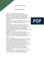EJERCICIOS DE LAS CUATRO REVELACIONES