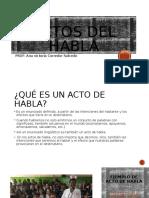 ACTOS DEL HABLA