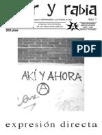 Revista Amor y Rabia N°. 63 (Septiembre-Octubre 2001, año 7)