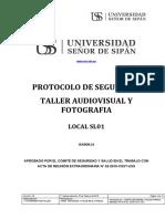 PROTOCOLO DE SEGURIDAD - TALLER AUDIOVISUAL Y FOTOGRAFIA