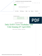 Daily DAWN News Vocabulary with Urdu Meaning (07 April 2020)