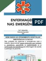 AULA 09 ENFERMAGEM NAS EMERGÊNCIAS