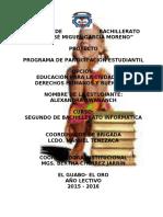 PROYECTO DE EDUCACIÓN PARA LA CIUDADANÍA