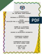 PROYECTO PARTICIPACION EDUCACIÓN PARA LA CIUDADANÍA