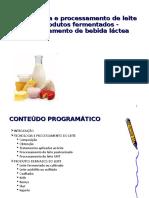 Tecnologia e Processamento de Leite e Produtos Fermentados - Processamento de Bebida Láctea