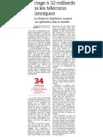 20200504 - Le Figaro - Mariage à 32 milliards dans les telecoms britanniques