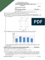 ENVIII Matematica 2020 Test 12