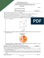ENVIII Matematica 2020 Test 14