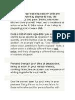 how to write a recipe vocabulary class