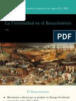 La Universidad en el Renacimiento