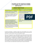 COMPARATIVO ENTRE LAS DOS TÉCNICAS (Taller 23 de mayo de 2010)