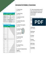 Sistema Internacional de Unidades y Conversiones - Ejercicios Propuestos PDF