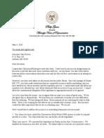 Speaker Letter to Gov. Reeves