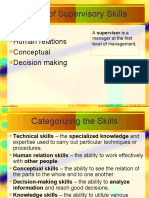 Supervisory Role&Skills