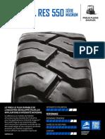 fiche technique produits  pneus pleins série Magnum