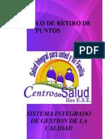 PROTOCOLO DE RETIRO DE PUNTOS