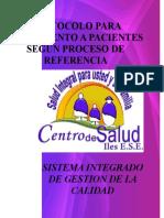PROTOCOLO DE SEGUIMIENTO A PACIENTES SEGUN PROCESO DE REFERENCIA