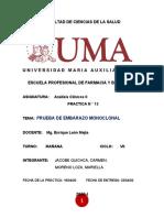 PRÁCTICA 13 PRUEBA DE EMBARAZO MONOCLONAL