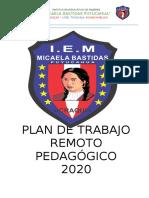 PLAN  DE TRABAJO  CLASES VIRTUALES- MICAELA