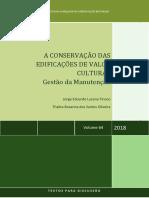 A Conservação das Edificações de Valor Cultural
