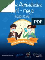 Guia de actividades abril-mayo Region costa