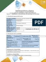 Guía de actividades y rúbrica de evaluación - Tarea 3 - Habilidades y herramientas del psicólogo para el abordaje en grupos étnicos.