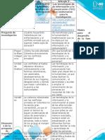 Matriz para el desarrollo de la fase3