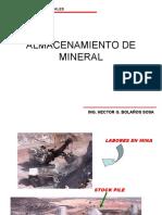 Clase N°1. Introduccion de Almacenamiento del Minerales