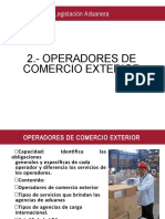 II.- OPERADORES DE COMERCIO EXTERIOR (1)