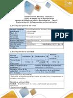 Guía de actividades y rubrica de evaluación - Paso 5- Implementación de la propuesta y sistematización