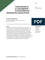 CESARINO - identidade representaçao no bolsonarismo - o corpo digital do rei