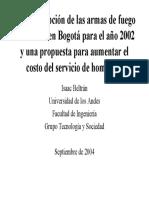 Beltrán Una descripción de las armas de fuego homicidas en Bogotá para el año 2002