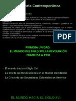 1.- EL MUNDO DEL SIGLO XVI, LA REVOLUCIÓN FRANCESA A 1930